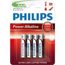 PILAS POWER ALKALINE AAA PHILIPS