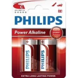 PILAS POWER ALKALINE C PHILIPS