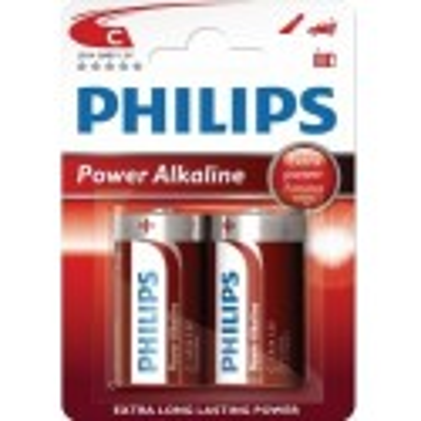 Pilas alcalina LR14 Power Alkaline Philips 12 blisters de 2 unidades.