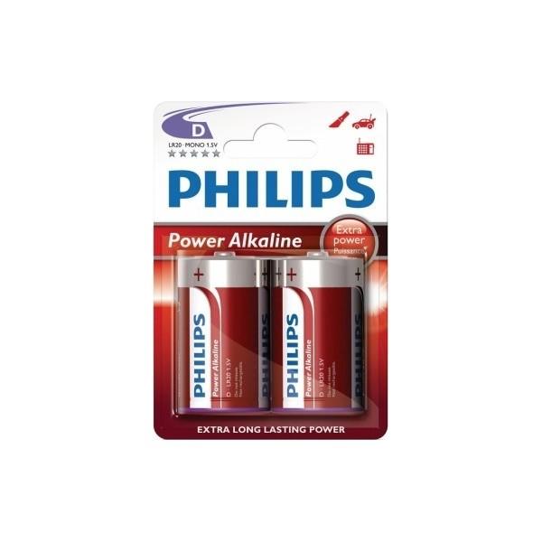 PILAS POWER ALKALINE D PHILIPS