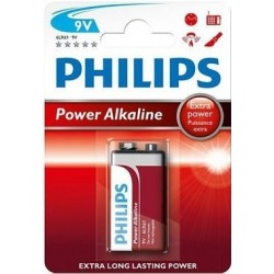 PILAS POWER ALKALINE 9V PHILIPS