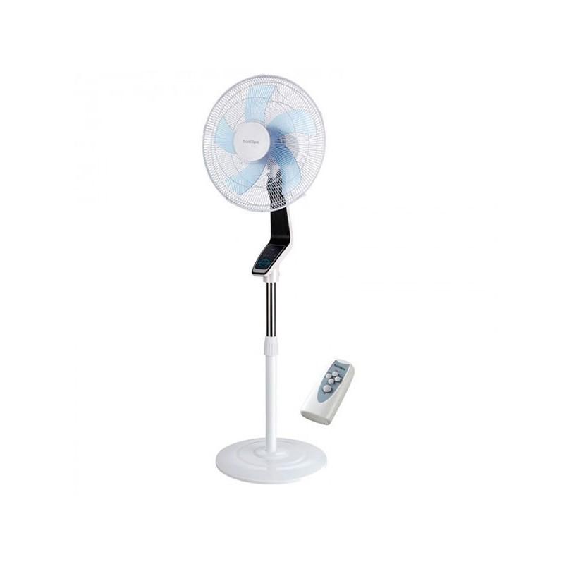 Ventilador de pie Coín con mando a distancia, color negro/blanco