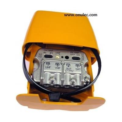 Amplificador mástil 12..24V 3E/1S U-Vmix-FImix USOS
