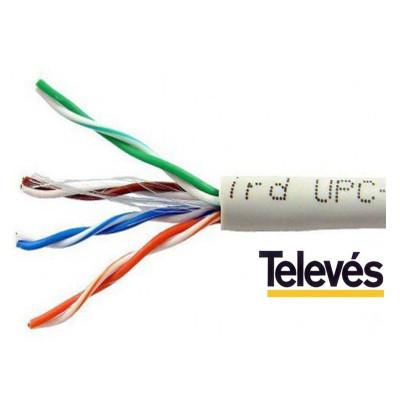 CABLE DATOS U/UTP CAT-5E LSFH 305m GR.