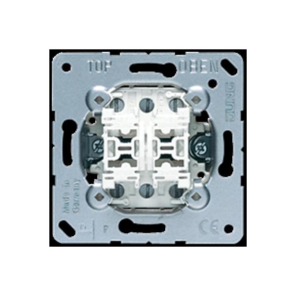 MECANISMO JUNG DOBLE CONMUTADOR 10AX / 250V ref: 509U