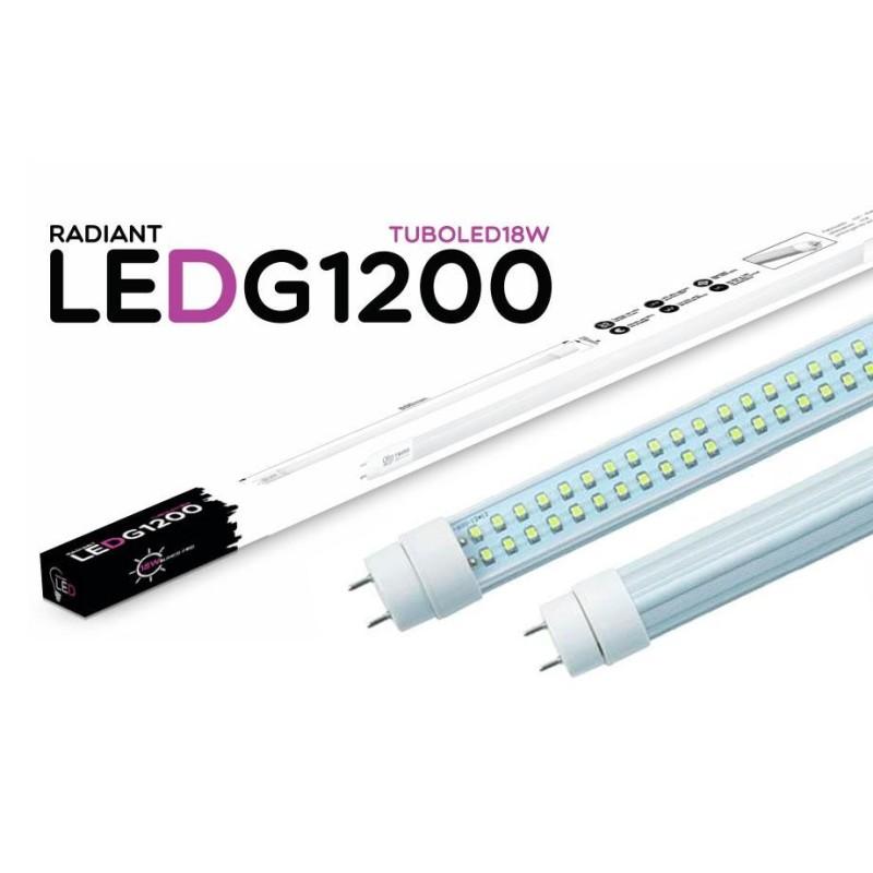 TUBO LED G1200 120CM 18W 6500K LUZ FRÍA 1500LM RADIANT LED