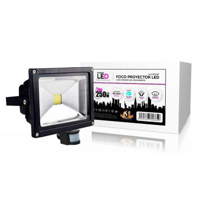 FOCO PROYECTOR LED 50W + SENSOR MOVIMIENTO RADIANT LED