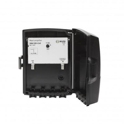 Amplificador 1 entrada UHF Canales 21-60, 40 dB - SBA100-C60