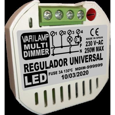 Regulador UNIVERSAL para LED a pulsadores MULTI DIMER 250