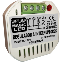 Regulador UNIVERSAL para LED a interruptores (PATENTADO)