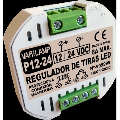 Regulador a pulsadores para Tiras LED de  12V a 24V (DC)