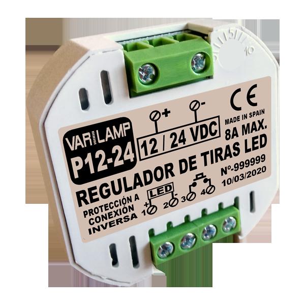 Régulateur de pushbutton pour les bandes LED P12-24