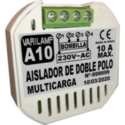 A-10. Aislador de doble polo