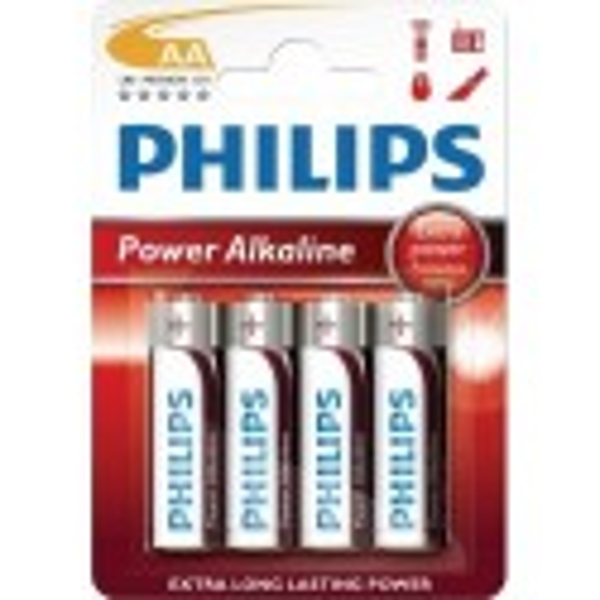 Pilas alcalina 34LR6 Power Alkaline AA Philips 12 blisters de 4 unidades.