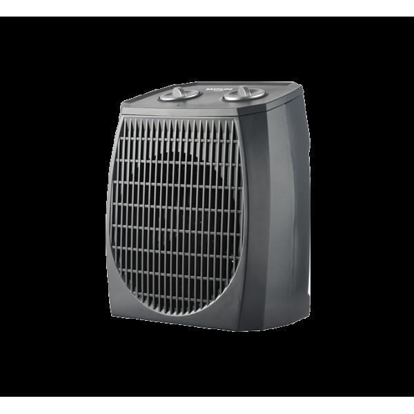 Termoventilador IP21 2000W, vertical, 2 potencias, termostato, color gris. TIP21-200